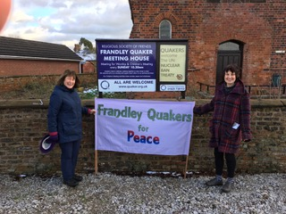 Frandley Quakers marking the UN Treaty on the Prohibition of Nuclear Weapons entering into force