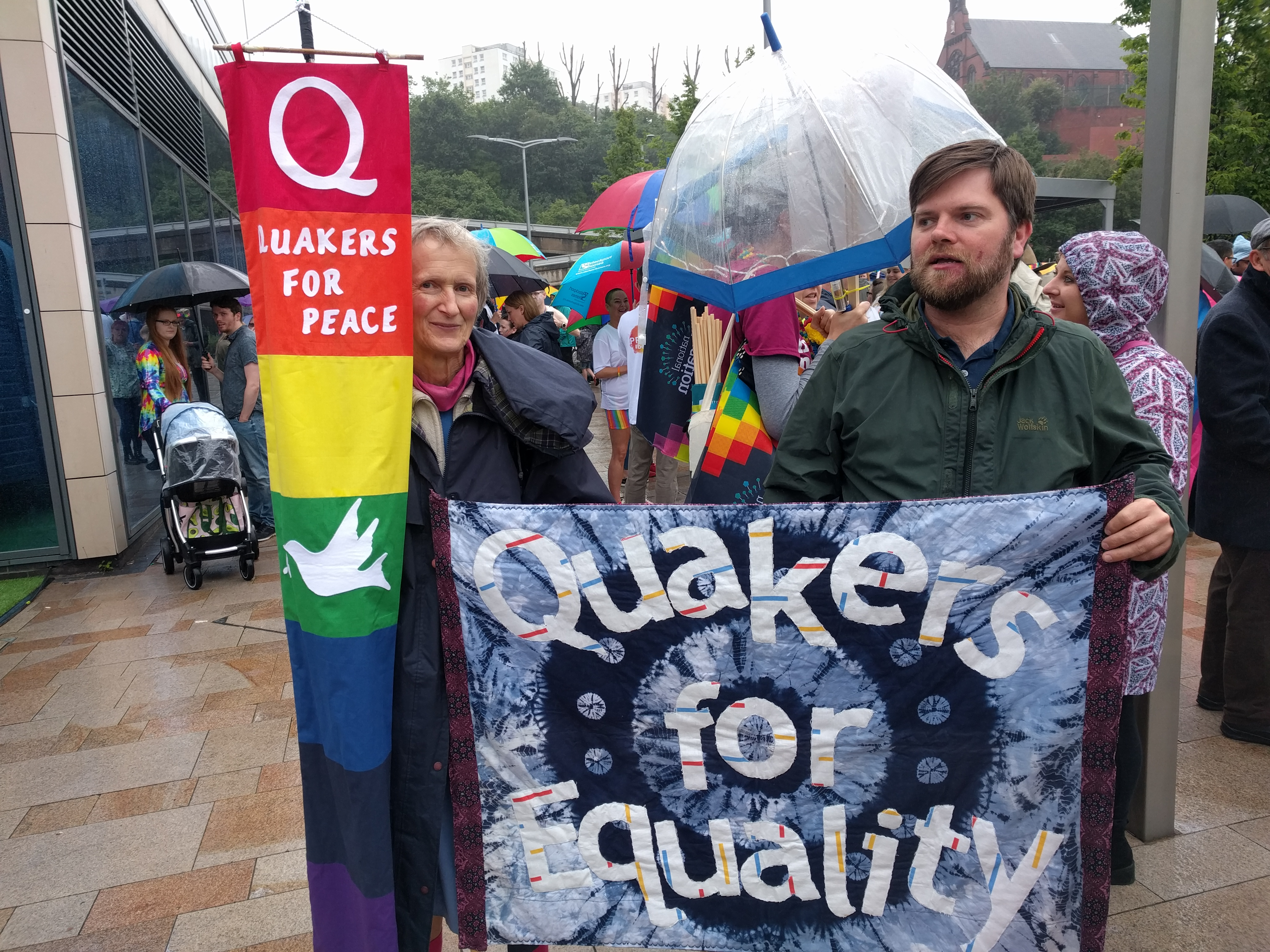 Stockport Quakers in the Stockport Pride Parade